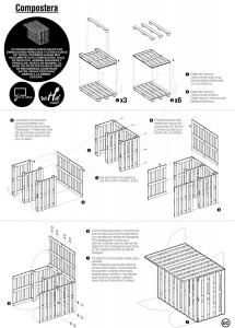 I piani per fare un tavolo da picnic e composter con pallet 3