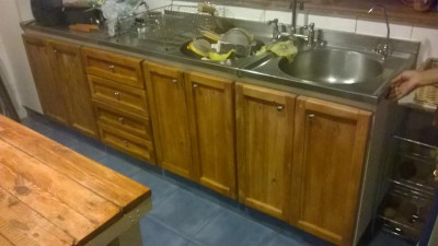 Mobili da cucina Ristrutturato con tavole pallet 4