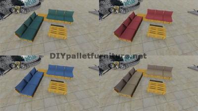 Progettazione di divano ad angolo con tavolo costruito con pallet 7