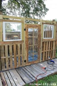 Progetto capanno pallet Le porte e le finestre