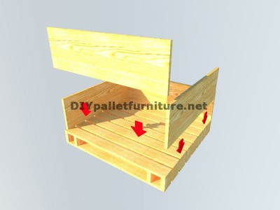 Tavolo baule realizzato con pallet 4