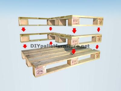 Guida di costruire una doppia sede utilizzando pallets 4