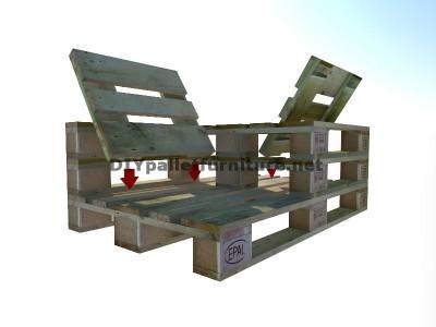 Guida di costruire una doppia sede utilizzando pallets 6