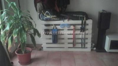 Mensola Radiatore realizzato con une semplice pallet 1