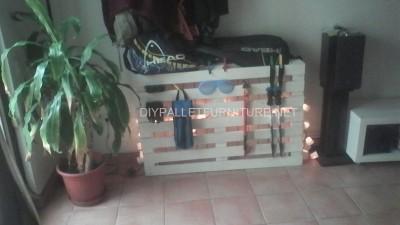 Mensola Radiatore realizzato con une semplice pallet 7