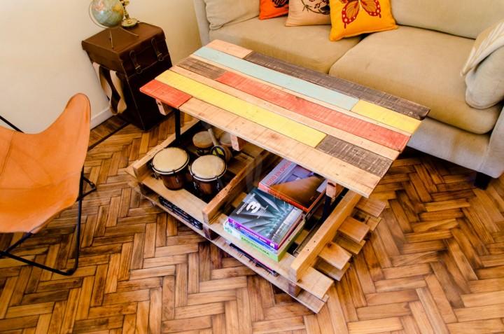 Sollevare tavolino alto con palletmobili con pallet for Scarpiera con pallet