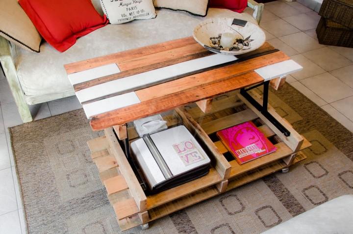 Sollevare tavolino alto con palletMobili con Pallet