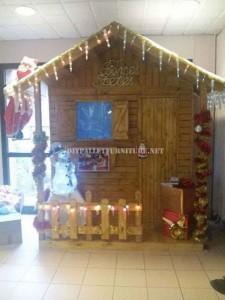 Casa Natale costruita con pallet