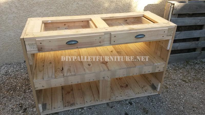 Cassettiera Pallet per la cucina 4Mobili con Pallet | Mobili con Pallet