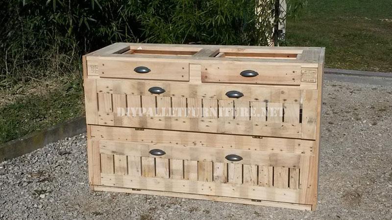 Cassettiera Pallet per la cucina 5Mobili con Pallet | Mobili con ...