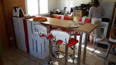 Colazione bar per la cucina costruita con pallet