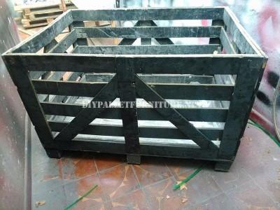 Divano costruito con una scatola di legno riciclato 2