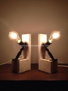 Lampade da comodino realizzati con pallet 1