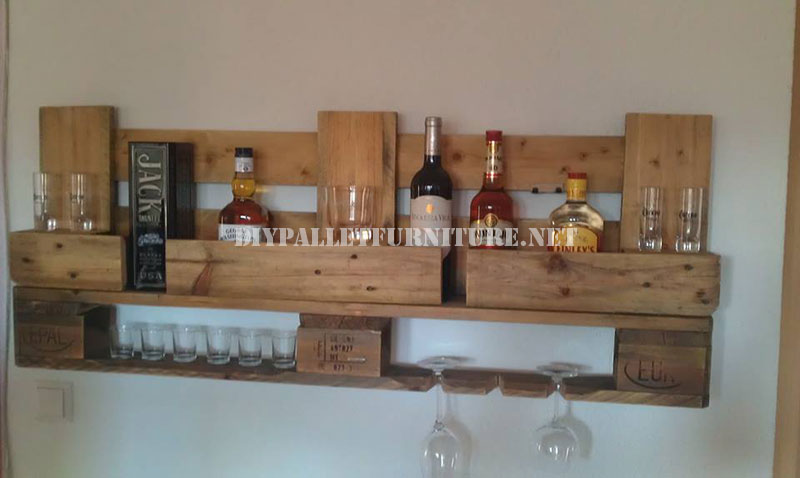 mensola bar con una sola palettamobili con pallet mobili. Black Bedroom Furniture Sets. Home Design Ideas