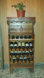 Wine Rack opzioni realizzati con pallet 1
