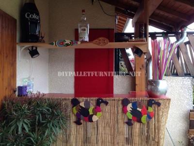 Caribbean Bar costruita con pallet 1