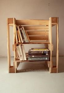 Design interessante 2 in 1 di una sedia e libreria con pallet 2