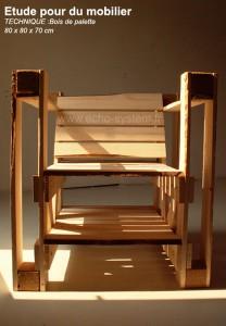 Design interessante 2 in 1 di una sedia e libreria con pallet 4