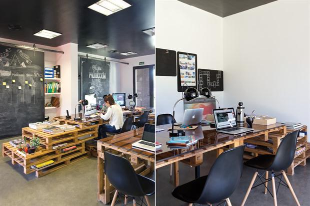Arredare Ufficio Con Pallet : Pubblicità e produttore cinematografico ufficio arredato con