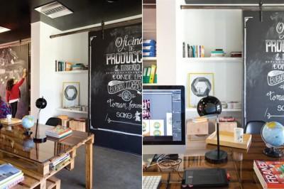 Pubblicità e produttore cinematografico ufficio arredato con pallet 2