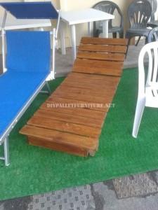 Set di mobili da giardino per il giardino costruito utilizzando i pallet 3