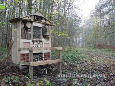 Shelter in pallets di legno