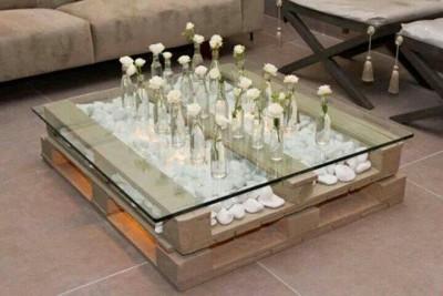 Super cool tavolo fatto con solo 2 pallets