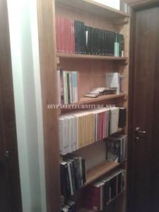 Libreria con tavole pallet 1