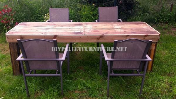 Tavolo da giardino realizzati con pallet 1