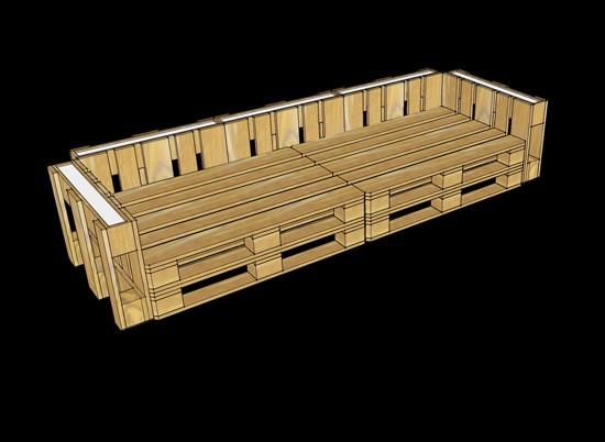 3D progetti di fornire un ufficio con pallet 8