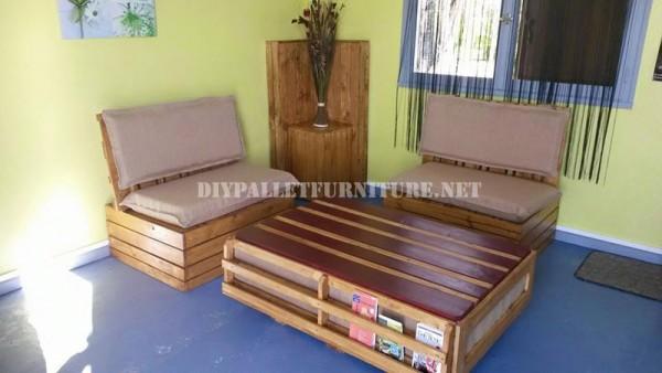 Divano per esterni e tavolo con palletmobili con pallet for Divani in pallet