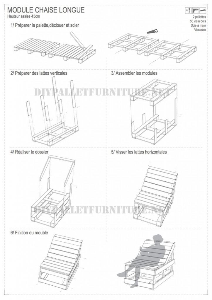 I piani per costruire una chaiselong pallet modulare 4