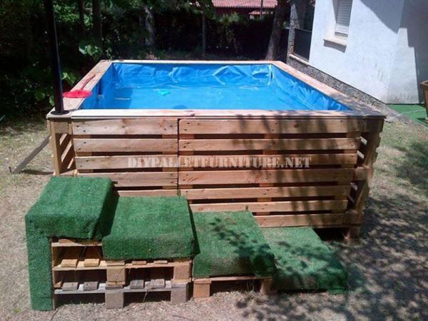 i piani per costruire una piscina con i palletmobili con