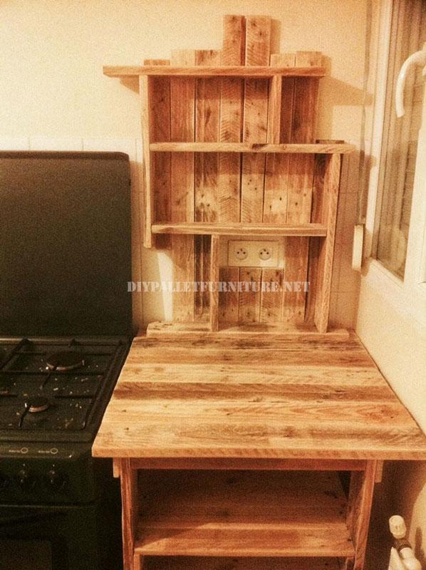 Mobili ausiliari per la cucina con i pallet 3mobili con for Muebles de cocina hechos con palets