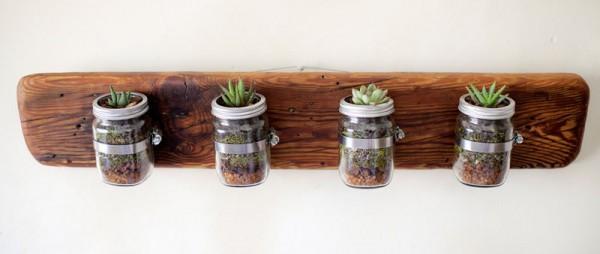 Indoor piccole fioriere realizzati con pallet 6