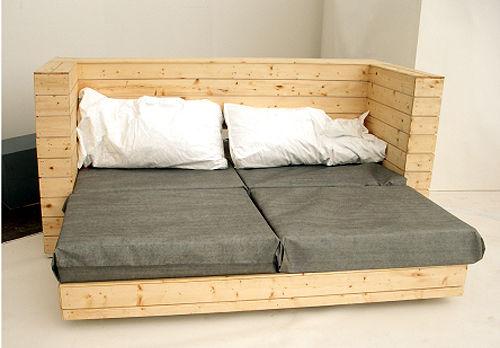 Divano, letto e scrivania, 3 pezzi di mobili in 1 2