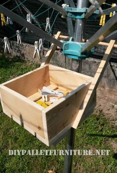 Pallet scatola per organizzare mollette 1