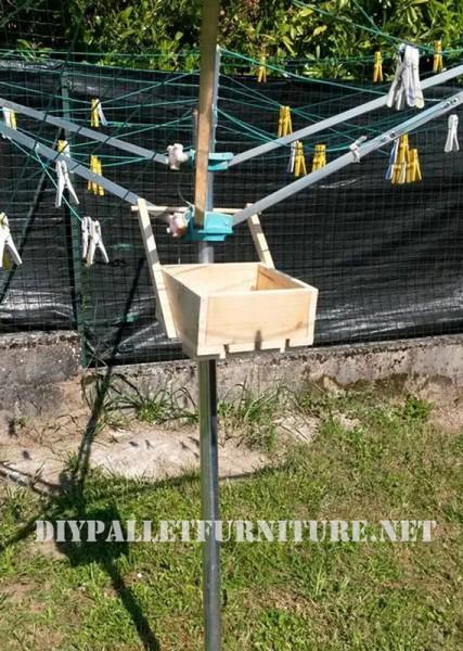 Pallet scatola per organizzare mollette 2