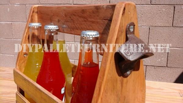Supporto di bottiglia con i pallet 3