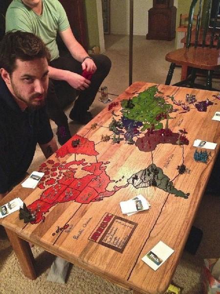 Tavola per giocare Risk 1