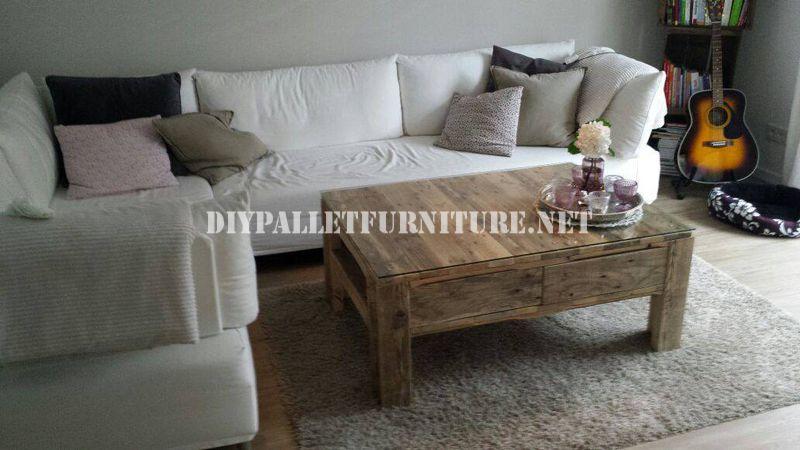 Tavolo soggiorno con pallet 1Mobili con Pallet | Mobili con Pallet