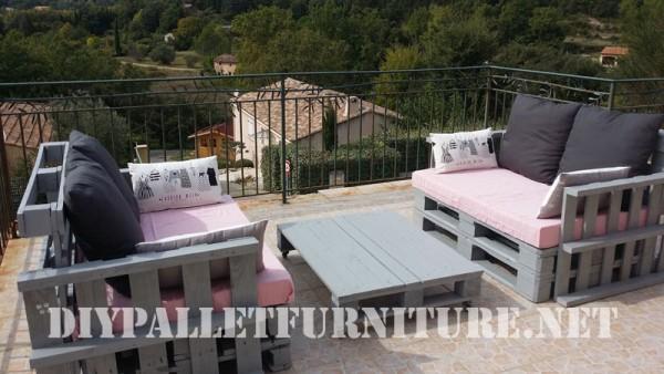 I divani pallets di Marie per la terrazza 1
