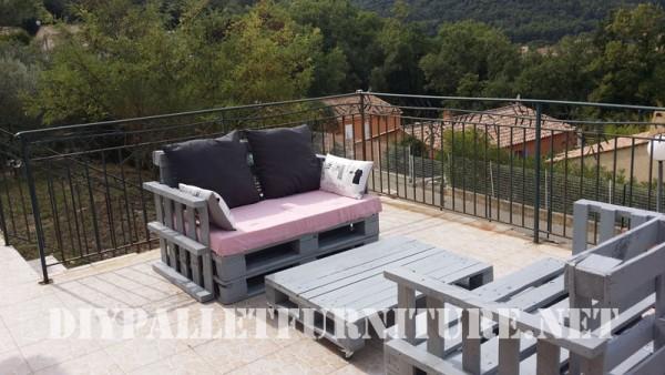 I divani pallets di Marie per la terrazza 2