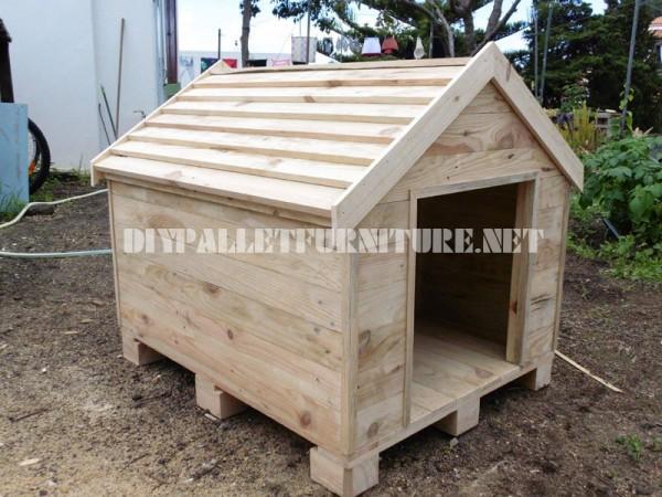 Casa di cane costruita con pallet 1