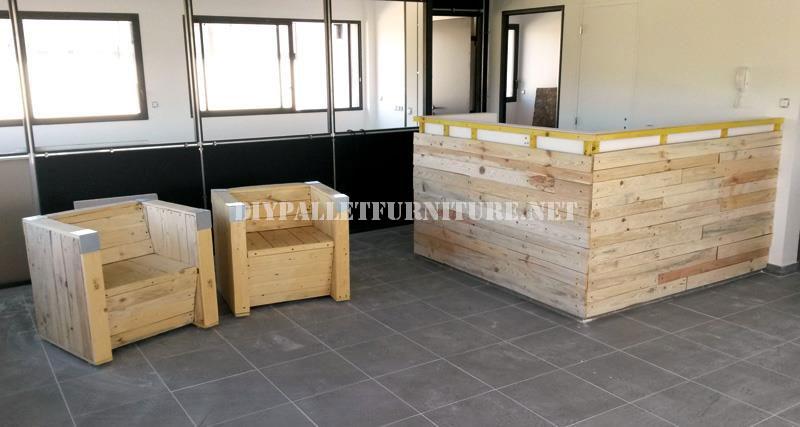 Poltrone e bar con pallet riciclatimobili con pallet mobili con pallet - Como hacer una barra con palets ...
