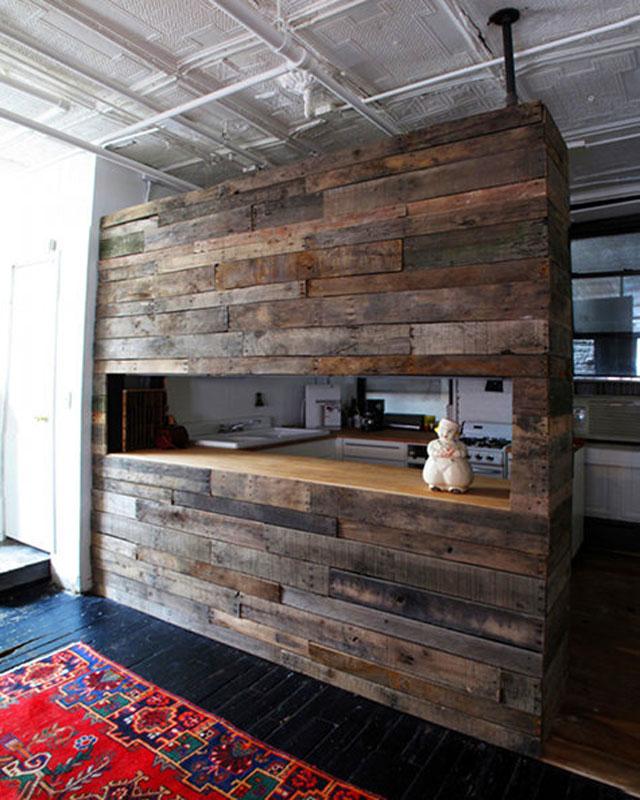 Bar per la colazione a costruire con il legno riciclato per la ...