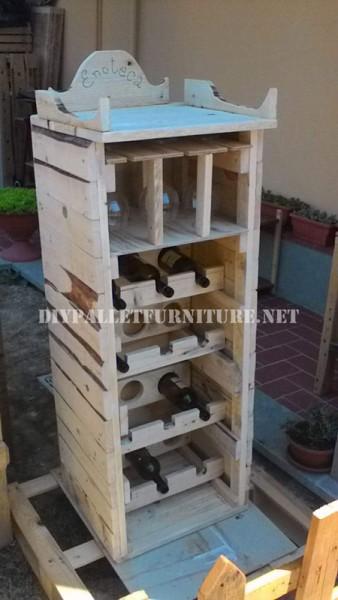 Mobili per il vino fatto con i pallet 1
