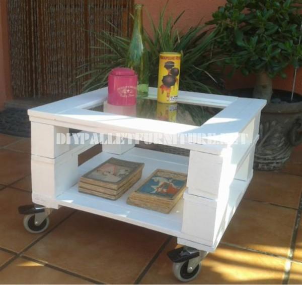 Tavolino da esterni in palletmobili con pallet mobili - Costruire tavolino ...