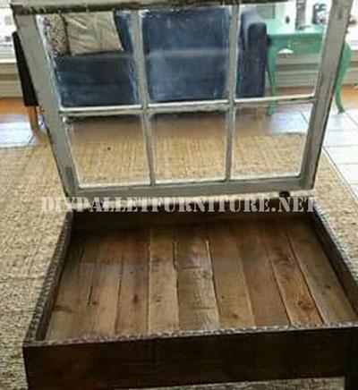 Tavolo costruito con pallet e una finestraMobili con Pallet  Mobili ...