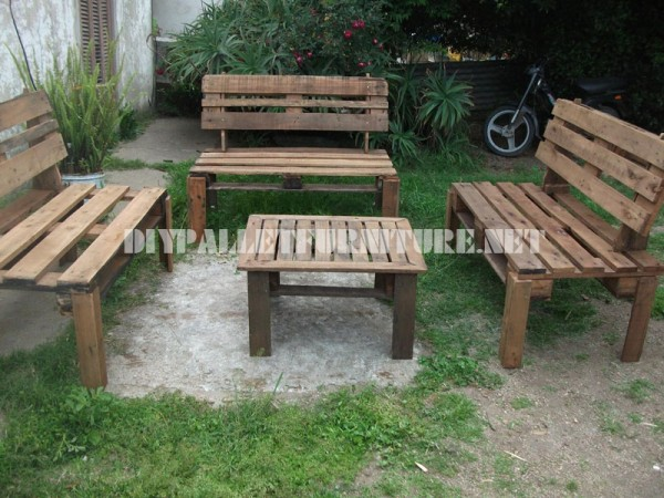 Mobili da giardino con i con pallet mobili con pallet with mobili bancali - Mobili da giardino economici ...